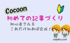 Cocoonでブログ【初心者がおさえたい3機能】