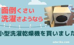 小型洗濯乾燥機【ゆとり時間が簡単に増える】一人暮らしおすすめ家電