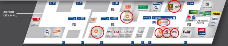 フランクフルト空港Terminal1マップ