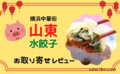 横浜中華街【山東】の水餃子をお取り寄せした