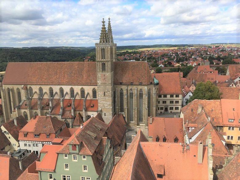 タワーから見える聖ヤコブ教会