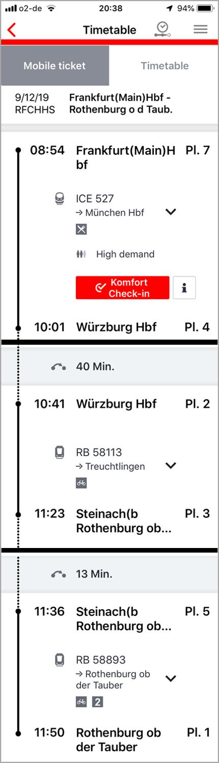 フランクフルトからローテンブルク電車時刻