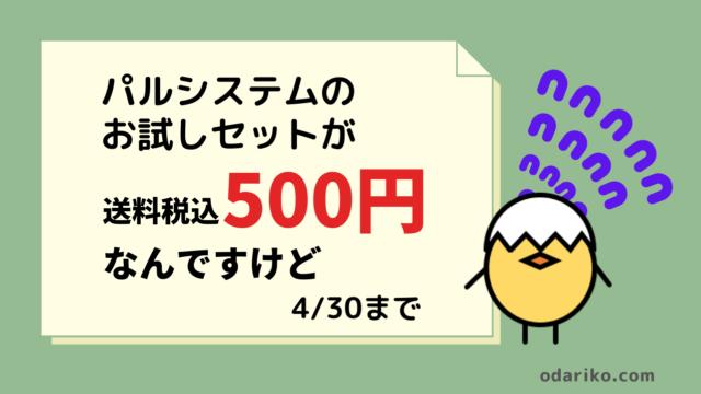 パルシステムPalsystemが500円